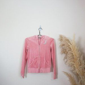 Juicy Couture pink velour sweatshirt